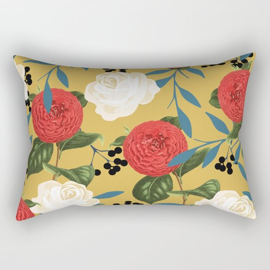 Floral Obsession #society6 #pattern #buyart Rectangular Pillow