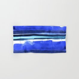 Wave Stripes Abstract Seascape Hand & Bath Towel