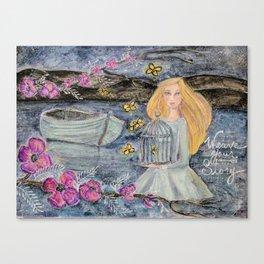 Lady of Shalott Canvas Print