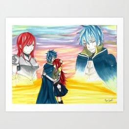 Sunset Embrace Art Print