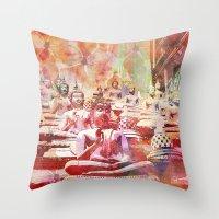 buddha Throw Pillows featuring Buddha   by LebensART