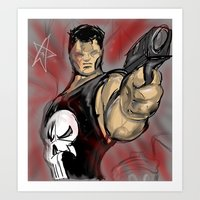 punisher Art Prints featuring Punisher by Off The Walls