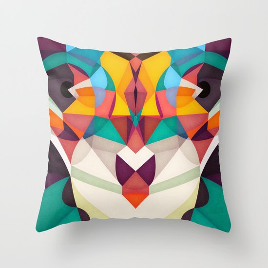 Not Right but Bright Throw Pillow