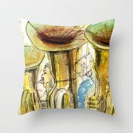 Tubas playing Throw Pillow