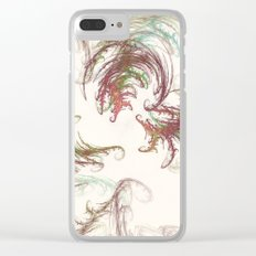 Harvest Winds Fractal Clear iPhone Case