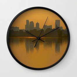 Come Sit With Me At Sloan Lake Downton Denver Colorado Wall Clock