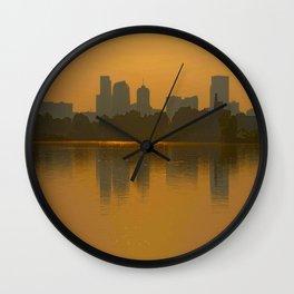 Come Sit With Me At Sloan Lake Downton Denver Colorado Wall Clock