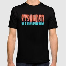 STR\NDED Mens Fitted Tee Black MEDIUM