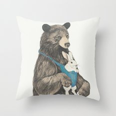 the bear au pair Throw Pillow