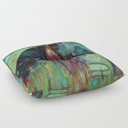 """Light Trio"" Original Painting by Flora Bowley Floor Pillow"
