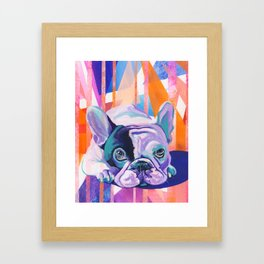 Frenchie Puppy Framed Art Print