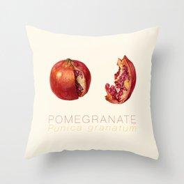 Pomegranate, Punica granatum Throw Pillow