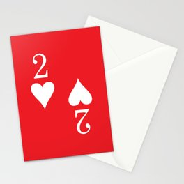 Two Of Hearts Graphic Stationery Cards