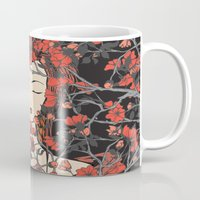 sleeping beauty Mugs featuring Sleeping Beauty  by Paula Belle Flores