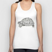 tortoise Tank Tops featuring Tortoise by Carissa Tanton