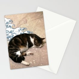 Cat and wave Stationery Cards