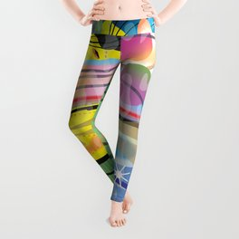 Hippy Fish in Rainbow Glow Leggings