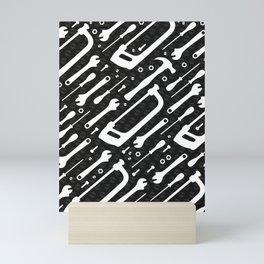 Black and White Tools Mini Art Print