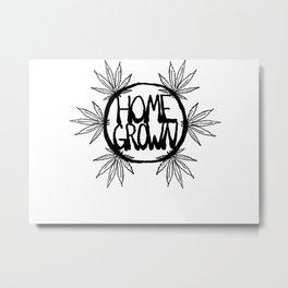 Home Grown Organic Metal Print