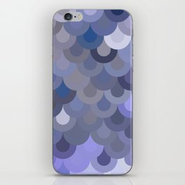 Blue Scales iPhone Skin