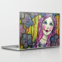 goth Laptop & iPad Skins featuring Goth Girl by Krazy Island Studios