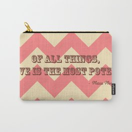 Chevron Love Carry-All Pouch