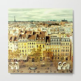 Paris - Skyline from the Pompidou Metal Print
