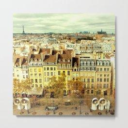Paris - Skyline from the Pompidou Metal Print