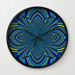 Evening Star Mandala Wall Clock