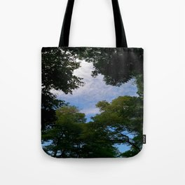 Looking up from nature Tote Bag