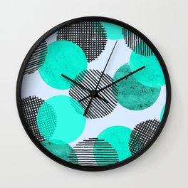 Blue Dot Pattern Wall Clock