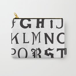 Cemetery Alphabet Carry-All Pouch