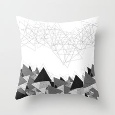 Triangle Grey Throw Pillow