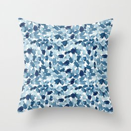 Blue Abstract Watercolor Throw Pillow