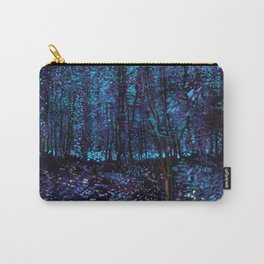 Van Gogh Trees & Underwood Indigo Turquoise Carry-All Pouch