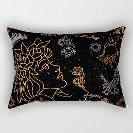 Aries Sign Zodiac Horoscope Design Rectangular Pillow