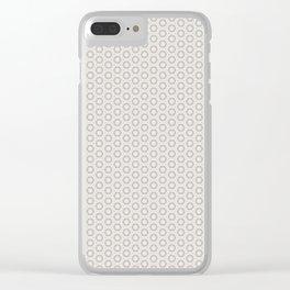 Hexagon Light Gray Pattern Clear iPhone Case