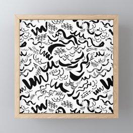 Wavy stripes Framed Mini Art Print