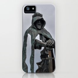 King Arthur Statue - Tintagel Castle - England iPhone Case