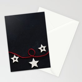 Stars on a Red Rope (Color) Stationery Cards