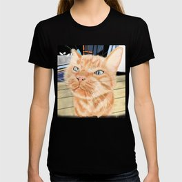 Oliver the Sniffy Red Tabby Cat T-shirt