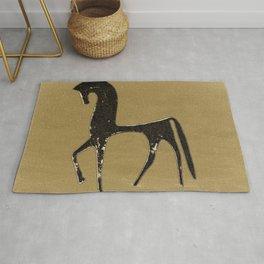 Black Horse in Desert #decor #society6 #buyart Rug