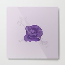 Rose Smoke Metal Print