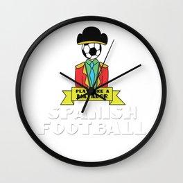Spain spanish Football World cup Soccer Championship world champion ball Wall Clock