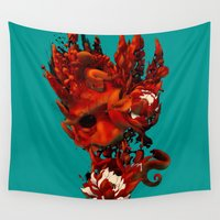 karma Wall Tapestries featuring Karma by angrymonk