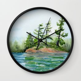 Island Pines in Frontenac County Wall Clock