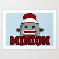 minions Art Prints featuring Misha's Minions by Evie Bird