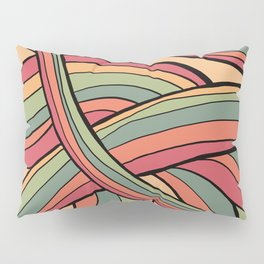 Rolling Waves Of Peachy Panic Pillow Sham