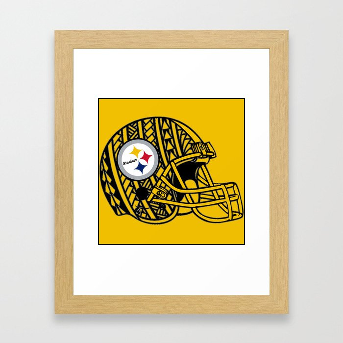 Polynesian style Steelers Framed Art Print by ...