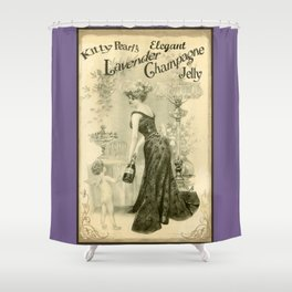 Kitty Pearl's Elegant Lavender Champagne Jelly Shower Curtain